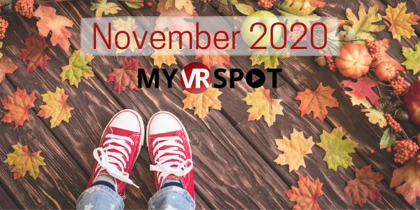 MyVRSpot's October 2020 Newsletter